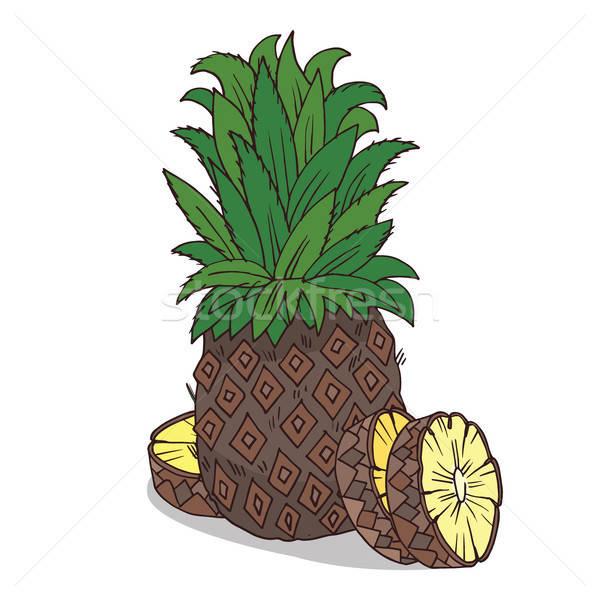 Isolate ripe ananas fruit Stock photo © alexanderandariadna