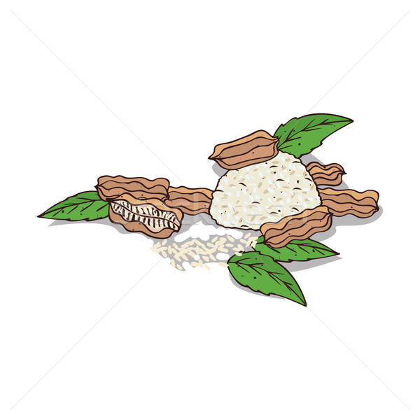 Stock photo: Isolated clipart Sesame