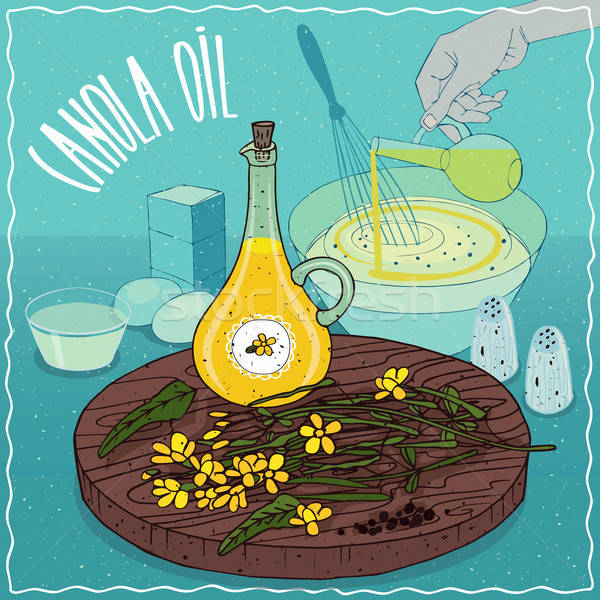 Stock photo: Canola oil used for cooking