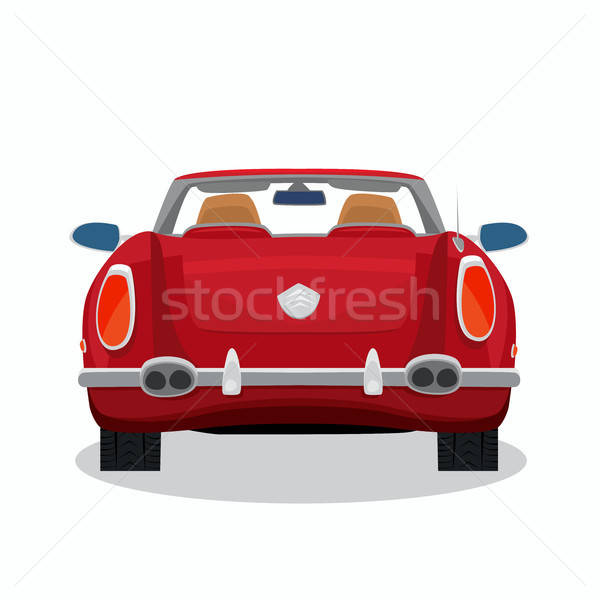 Isolated red retro cabriolet with shadow Stock photo © alexanderandariadna