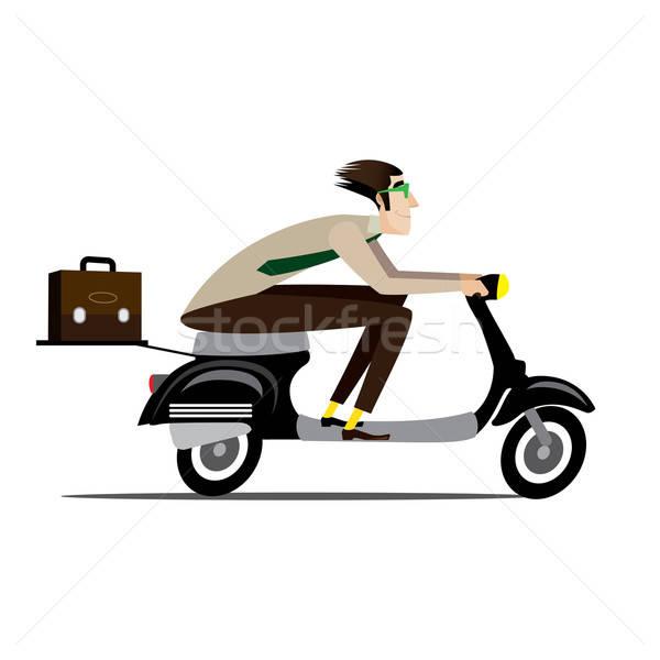 Creative man riding on a scooter Stock photo © alexanderandariadna