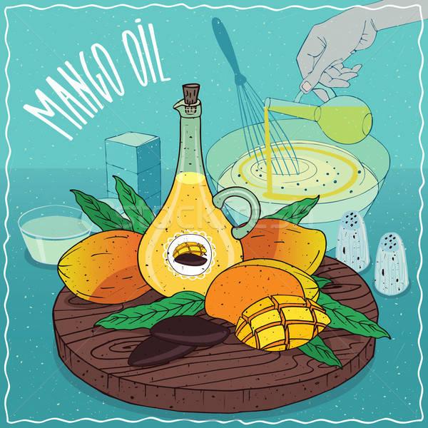 Mango seed oil used for cooking Stock photo © alexanderandariadna