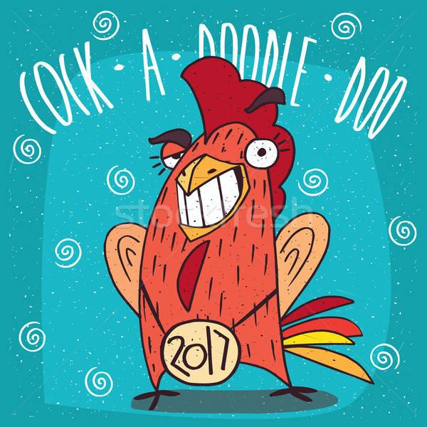 Cock or rooster smiling teeth and making eyes at Stock photo © alexanderandariadna