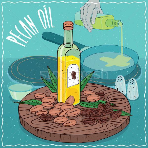 Olaj használt étel üveg üveg diók Stock fotó © alexanderandariadna