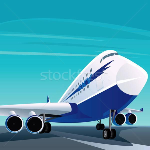 Big modern passenger plane on the runway Stock photo © alexanderandariadna