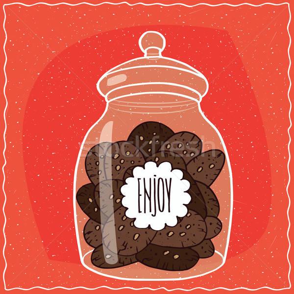 ガラス jarファイル チョコレート クッキー ストックフォト © alexanderandariadna