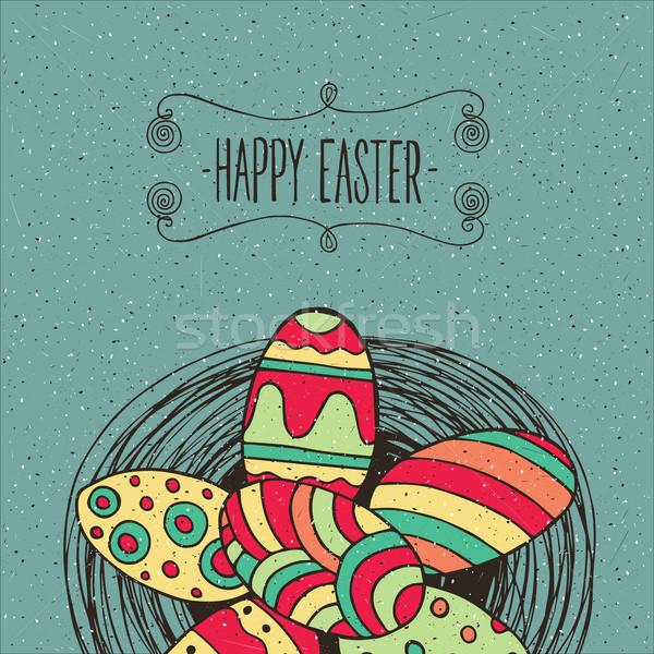 Heap of Easter eggs Stock photo © alexanderandariadna
