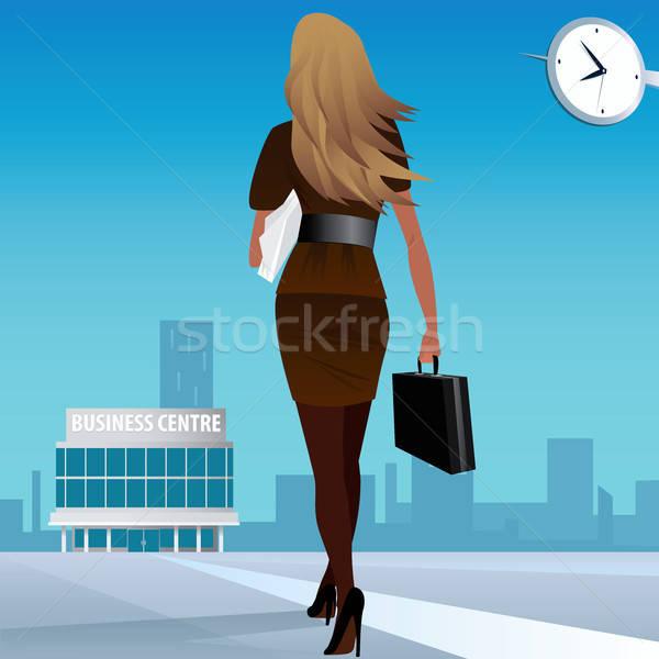 Imprenditrice lavoro business centro bella ragazza suit Foto d'archivio © alexanderandariadna