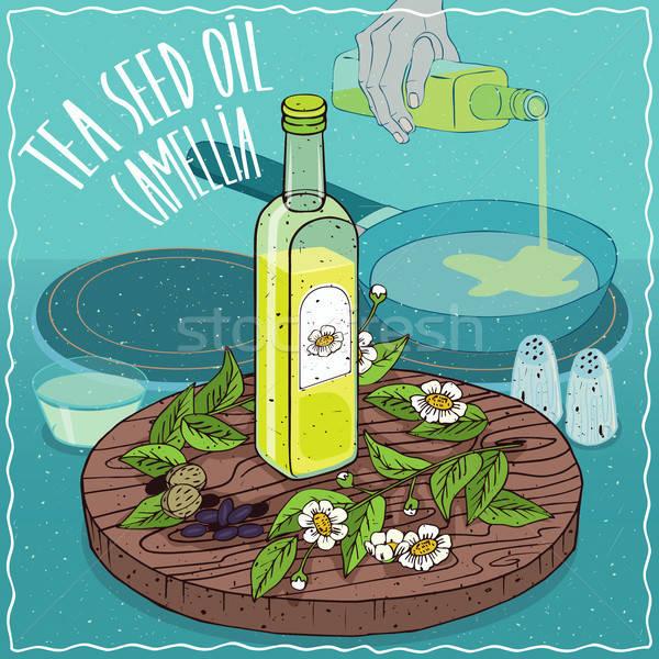 茶 シード 油 中古 食品 ガラス ストックフォト © alexanderandariadna