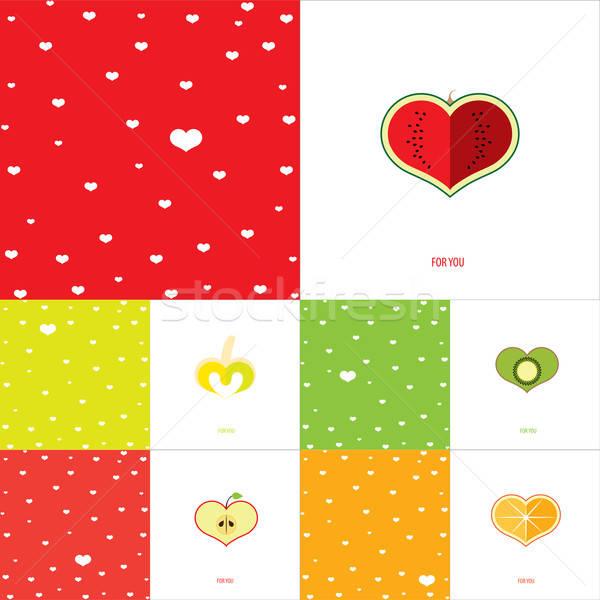 Conjunto dobrar congratulação cartões dia dos namorados Foto stock © alexanderandariadna