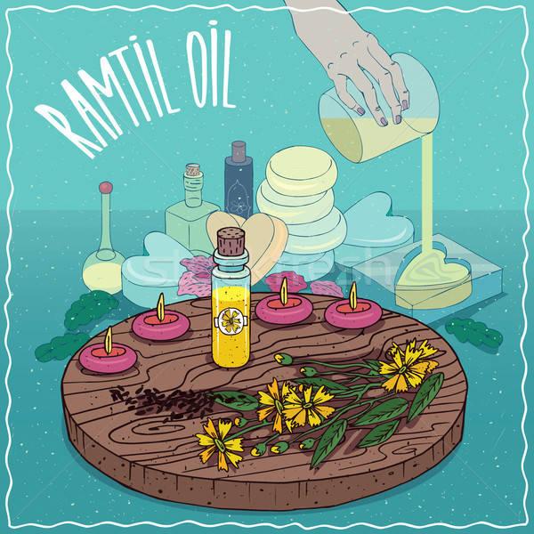 Ramtil oil used for soap making Stock photo © alexanderandariadna