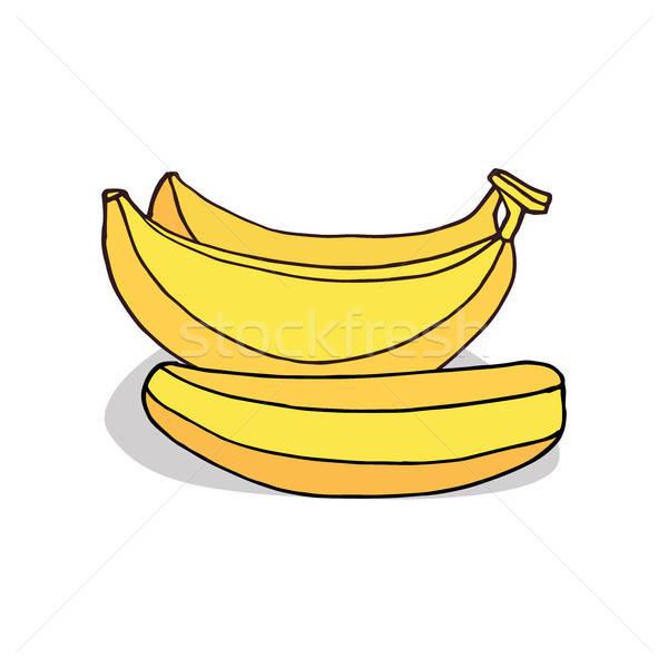 Maturo banana frutta bianco Foto d'archivio © alexanderandariadna
