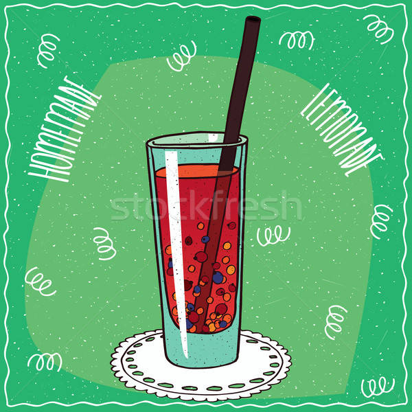 Homemade berry lemonade in handmade cartoon style Stock photo © alexanderandariadna