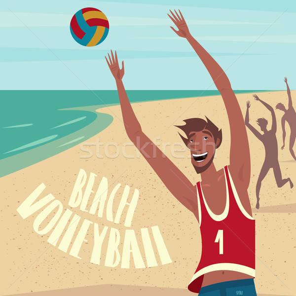 Persone giocare palla spiaggia ragazzo mani Foto d'archivio © alexanderandariadna