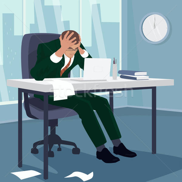 бизнесмен голову отчаяние служба менеджера человека Сток-фото © alexanderandariadna