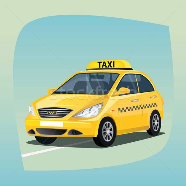 Isolated yellow taxi car Stock photo © alexanderandariadna