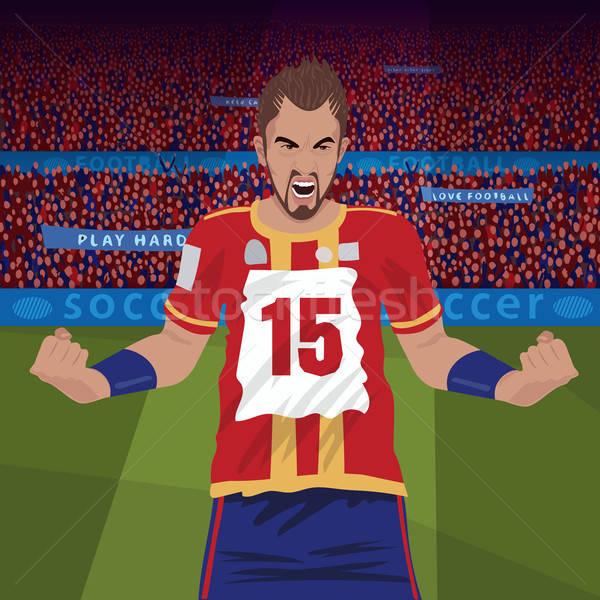 Footballeur colère perdre furieux football Photo stock © alexanderandariadna