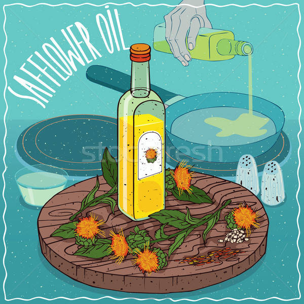 Сток-фото: семени · нефть · используемый · продовольствие · стекла · бутылку