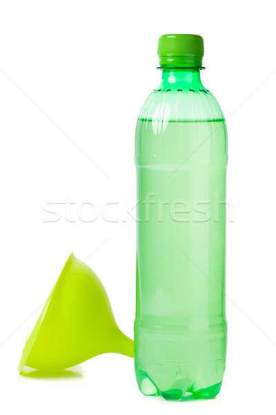 Vert bouteille entonnoir isolé blanche pétrolières Photo stock © alexandkz