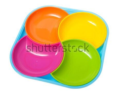 Stock photo: set of plates