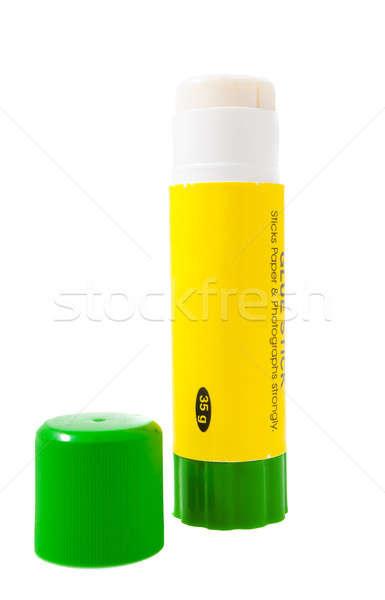 Papier lijm stick geïsoleerd witte groene Stockfoto © alexandkz