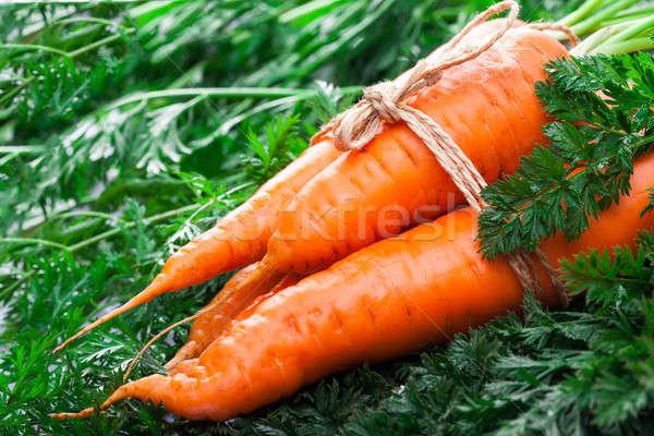 Carotte feuille verte corde arc alimentaire feuille Photo stock © alexandkz