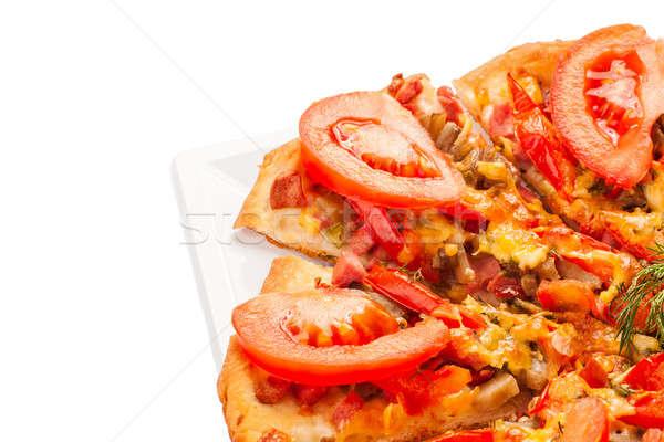Pizza italiano cocina estudio aislado blanco Foto stock © alexandkz