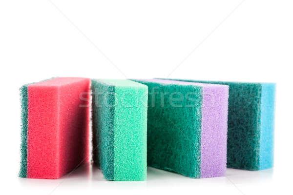 Group of kitchen sponges isolated on the white background Stock photo © alexandkz