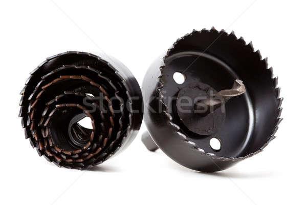 Trou outils isolé noir blanche Photo stock © alexandkz