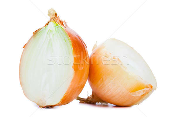 Onions cut in half isolated on a white background. Stock photo © alexandkz