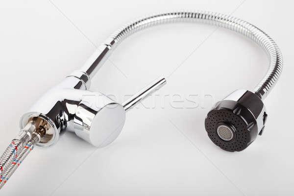 クロム 給水栓 白 キッチン バス エネルギー ストックフォト © alexandkz