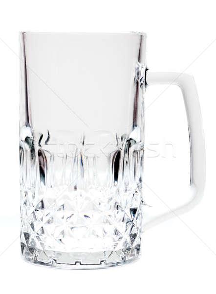 Bier mok lege geïsoleerd witte glas Stockfoto © alexandkz