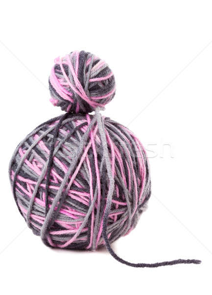 Two balls with yarn against the white background Stock photo © alexandkz