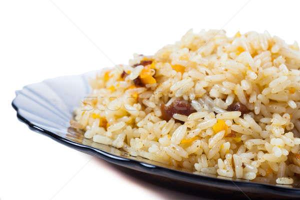 Kaukázusi hagyományos rizs hús elszigeteltség Ázsia Stock fotó © alexandkz