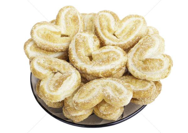 Hartvorm cookie geïsoleerd witte liefde plaat Stockfoto © alexandkz
