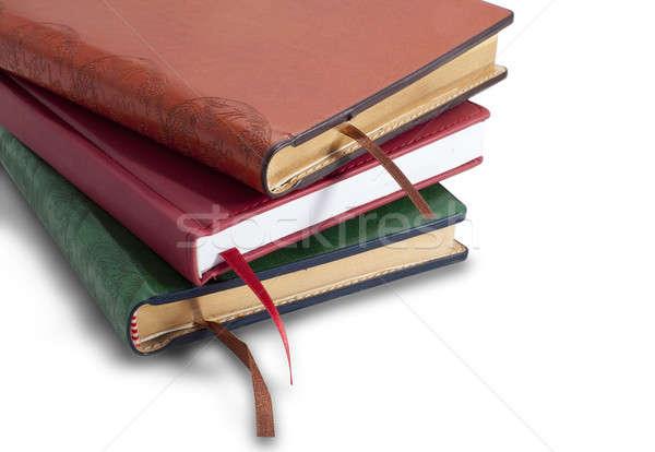 Halom izolált fehér üzlet papír könyvek Stock fotó © alexandkz