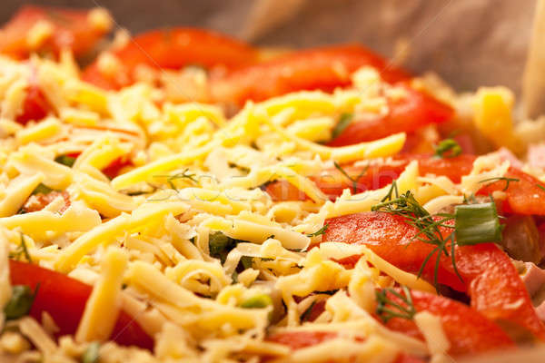Pizza italiano cozinha estúdio isolado branco Foto stock © alexandkz