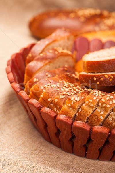Baguette semences bois fond table Photo stock © alexandkz