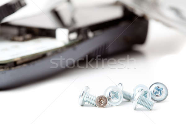 Telefoon shot witte mooie schaduwen abstract Stockfoto © alexandkz