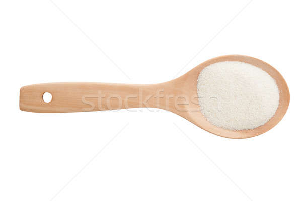 semolina and wooden spoon  isolated on white background Stock photo © alexandkz