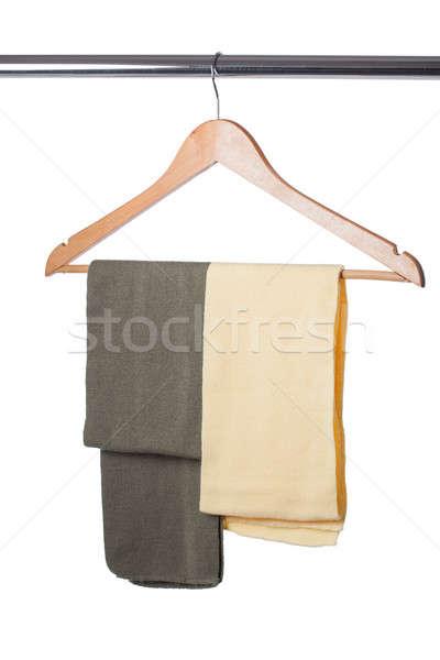 Scarfs on a hanger isolated on white Stock photo © alexandkz
