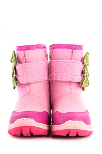 Colorchild felt footwear with red rubber sole isolated Stock photo © alexandkz