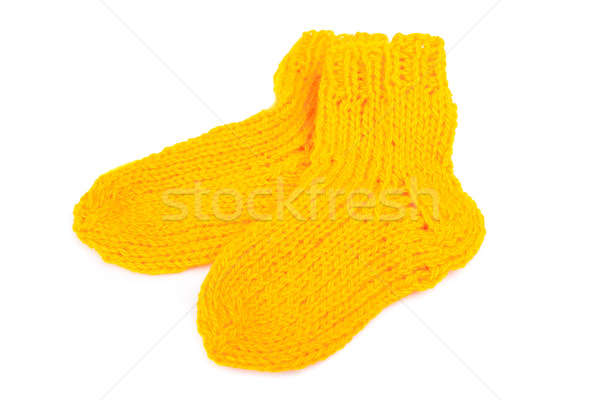 Colorful wool socks isolated on white Stock photo © alexandkz