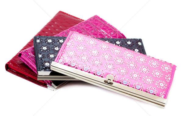 Vrouw portemonnee geïsoleerd witte mode zak Stockfoto © alexandkz