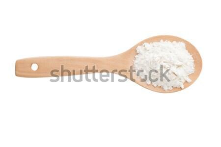 Farinha branco isolado fundo cozinhar Foto stock © alexandkz