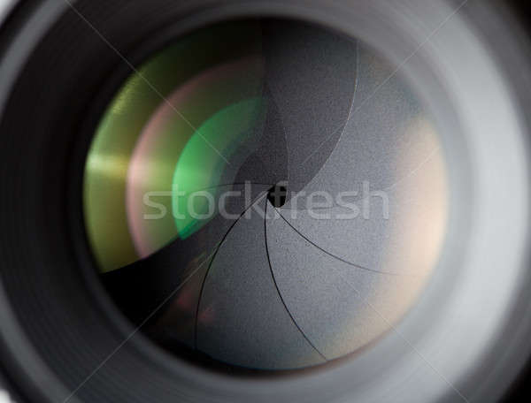 Macro shot of photographic lens Stock photo © alexandkz