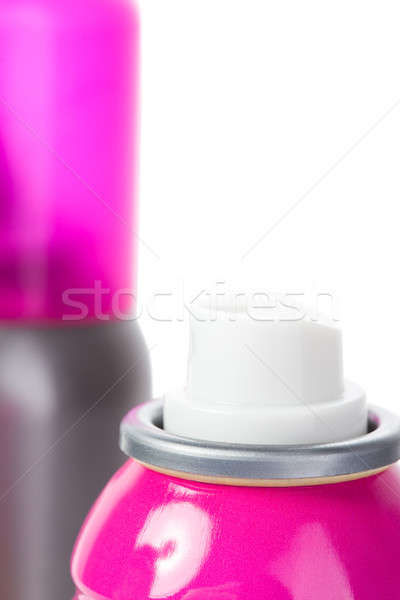 Pink shot of spray can isolated on white with cap Stock photo © alexandkz