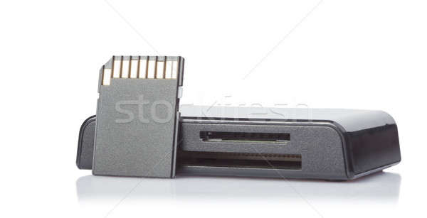 Card reader and memory card on white background Stock photo © alexandkz
