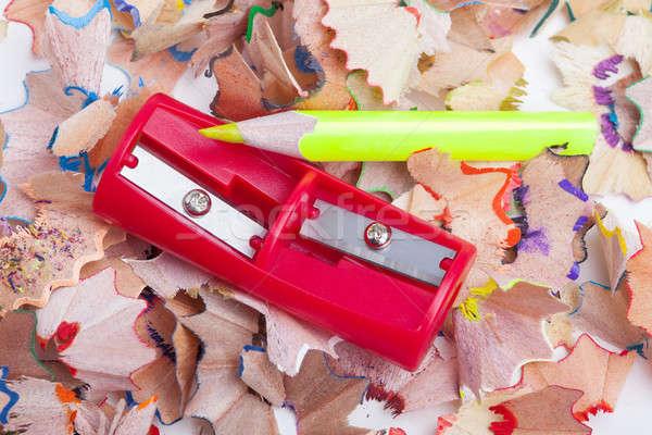 Kolorowy farbują temperówka biuro szkoły tle Zdjęcia stock © alexandkz