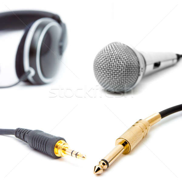 microphone with connector isolated on white Stock photo © alexandkz
